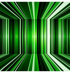 Abstract warped green stripes colorful background vector image