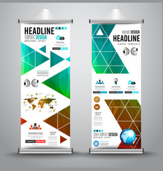 Advertisement roll up business flyer or brochure vector