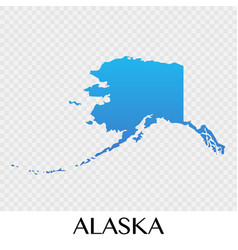 Alaska map in north america continent design vector