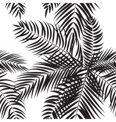 Beautifil Palm Tree Leaf Silhouette Seamless vector image vector image