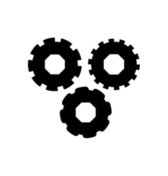Black silhouette of different gears vector