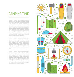 Camping icon flat vector