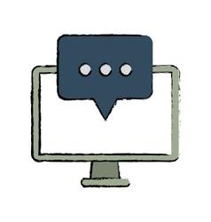 Computer communication message bubble speak sketch vector