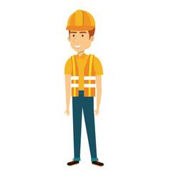construction workman avatar character vector image