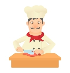 Cook icon cartoon style vector