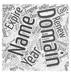 Domain names and search engine ranking word cloud vector