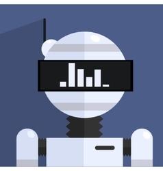 Ergonomic design robot character vector