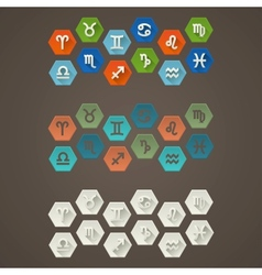 Flat Signs of The Zodiac vector image