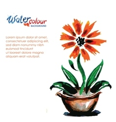 flower in a pot on a white background and place vector image vector image