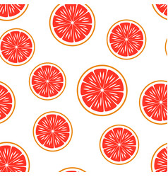 Grapefruit seamless pattern vector