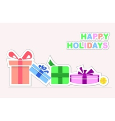 Happy Holidays gifts vector image vector image
