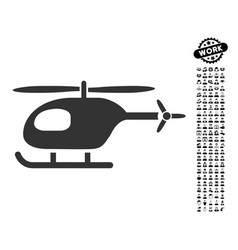 Helicopter icon with professional bonus vector