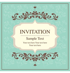 Invitation card vintage style vector