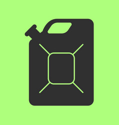 Jerrycan flat icon on background vector