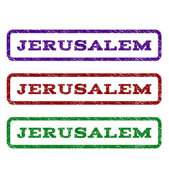 Jerusalem watermark stamp vector