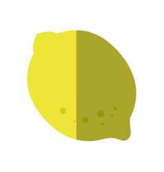 Lemon fruit icon vector