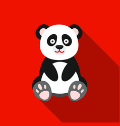 Panda icon flat singe animal icon from the big vector