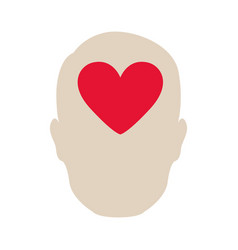 Person heart brain icon vector
