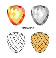 Pineapple gem cut vector