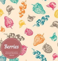 Seamless Berries Background vector image vector image