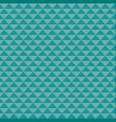 Seamless knitted triangle background vector