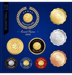 Set of basketball badge label or emblem for sport vector