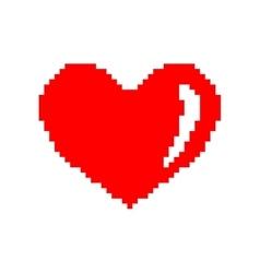 Sign pixel heart 207 vector