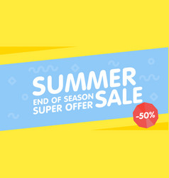 Summer sale end of season banner super offer vector