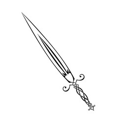 Sword tattoo vector image vector image