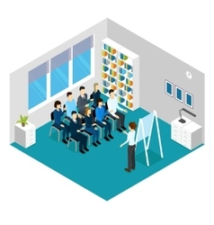 Training Isometric Prople Composition vector image vector image