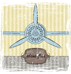 Vintage Plane striped background vector image