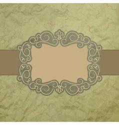Vintage worn card vector