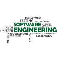 Word cloud - software engineering vector