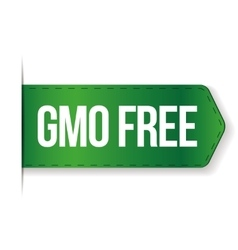 Gmo free sign ribbon vector