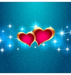 Love star background beautiful bright hearts vector image