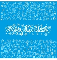 New year greeting cardlinear iconstitle vector
