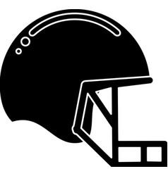 Silhouette helmet mask american football equipment vector