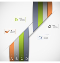 Ribbon template for data presentation vector
