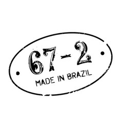 Made in brazil rubber stamp vector