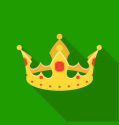 Crown icon in flat style isolated on white vector