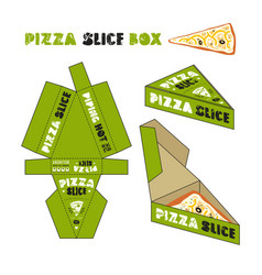 Design of box for pizza slice vector