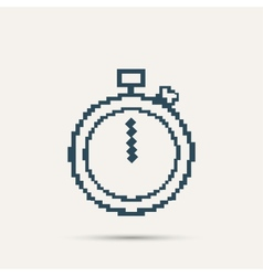 Simple stylish pixel icon stopwatch design vector