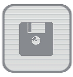 Floppy diskette symbol store information document vector
