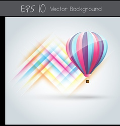 Colorful parachute vector