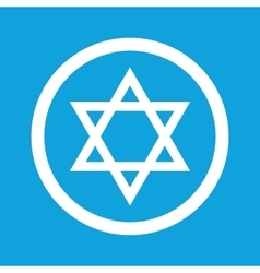 Star of david sign icon vector