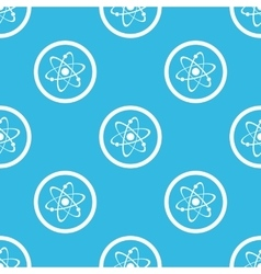 Atom sign blue pattern vector