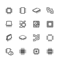 Chips and microscheme icons vector