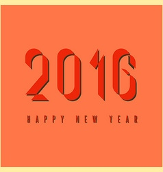 2016 happy new year mockup graphic retro fire vector