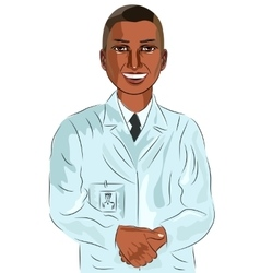 African american male doctor vector
