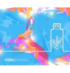 Creative Usb Art template vector image
